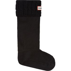 Hunter Women's Tall Cable Boot Socks Pair Black